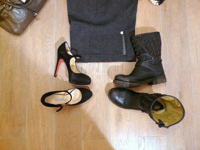 biker boots mary jane