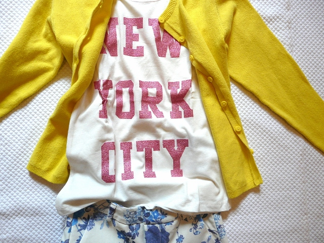 ZARA KIDS 2013 FLOWERS and yellow t-shirt