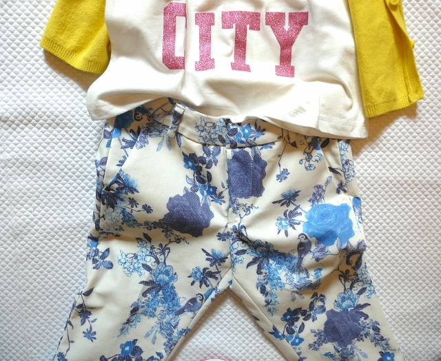 ZARA KIDS 2013 FLOWERS and yellow pants