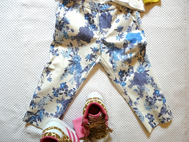 ZARA KIDS 2013 FLOWERS and yellow pantaloni fioriti zara