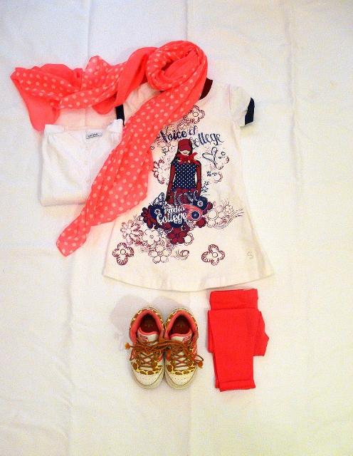 OKAIDI FLUO and SARABANDA DRESS outfit