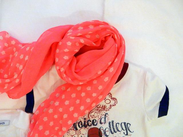 OKAIDI FLUO and SARABANDA DRESS - scarf okaidi