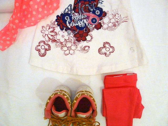 OKAIDI FLUO and SARABANDA DRESS for kids