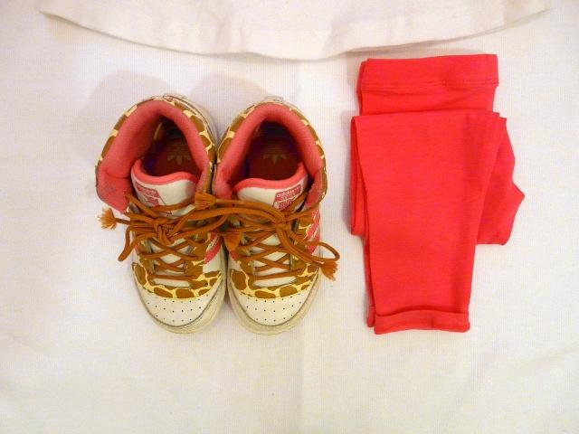 OKAIDI FLUO and SARABANDA DRESS - okaidi leggings