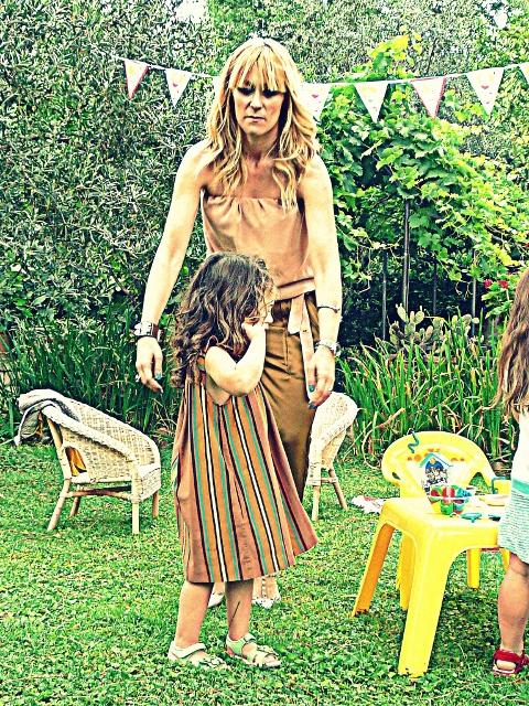BORTHDAY PARTY MOM AND DAUGHTER'S OUTFITS mamma e figlia