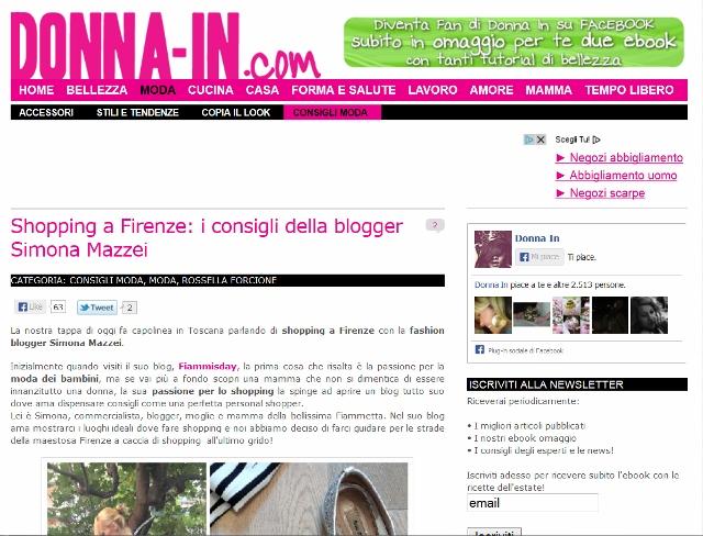 SHOPPING A FIRENZE I MIEI CONSIGLI SU Donna-in.com la moda a firenze