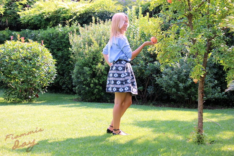 outfit per le mamme e round skirt