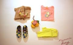 KIDS FASHION yellow and Pink