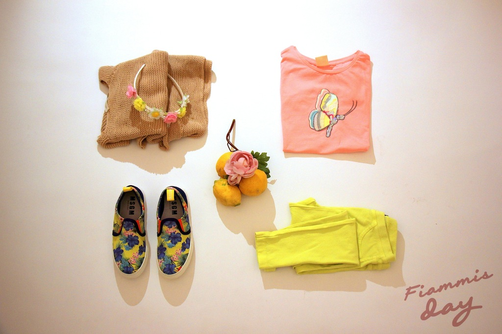 KIDS FASHION yellow and Pink