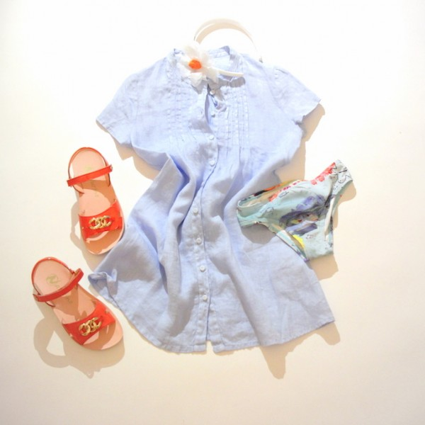 come vestire una bambina al mare