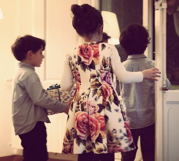 abiti a fiori per le bambine