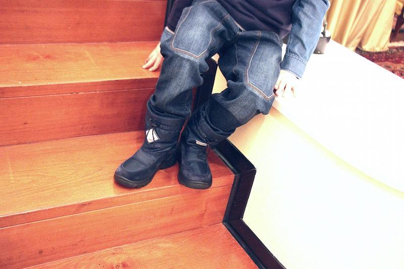 scarpe da neve per bambini da utilizzare non solo in montagna