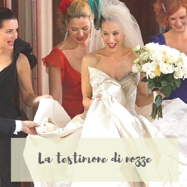 la testimone di nozze e come vestirsi