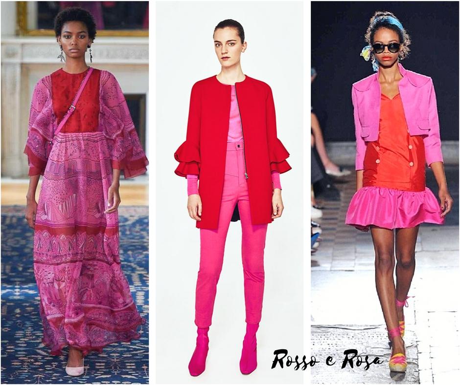come si vestono le mamme in primavera rosso e rosa insieme