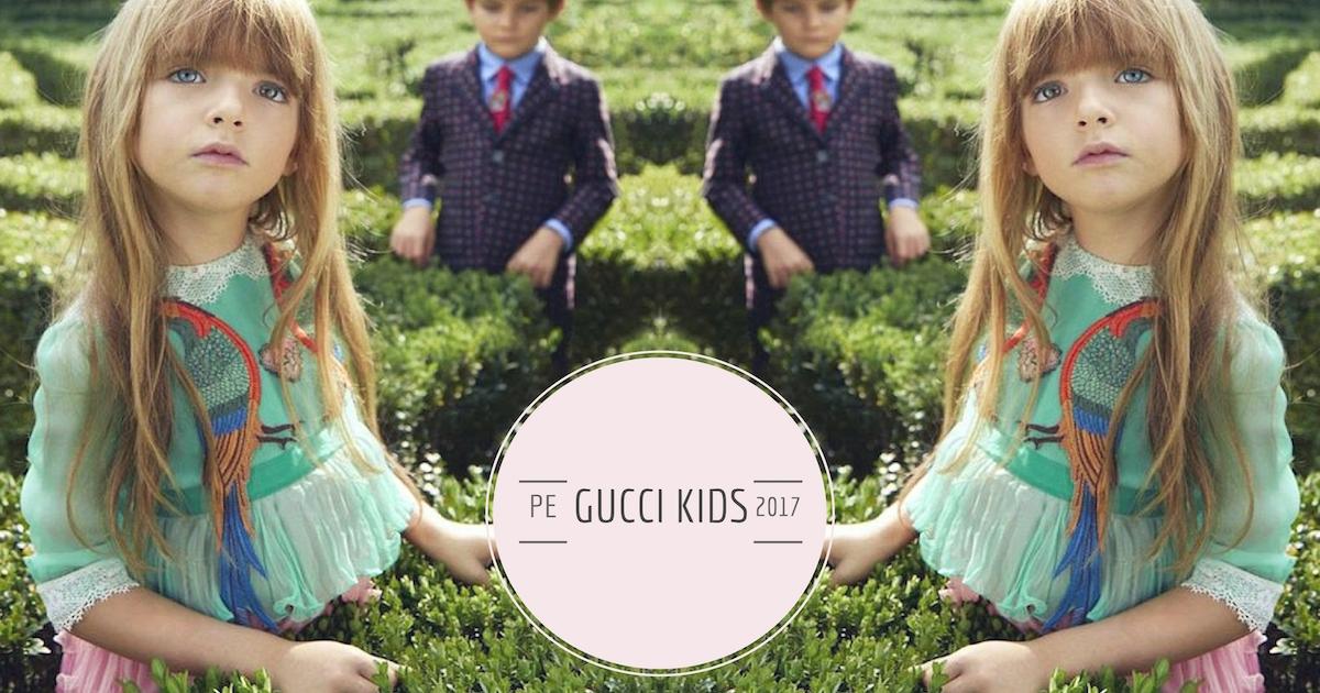 Gucci Kids PE2017 e la moda bambino