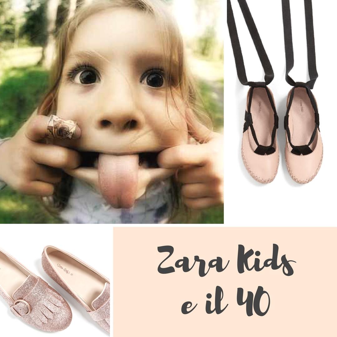 le scarpe di zara da bambina
