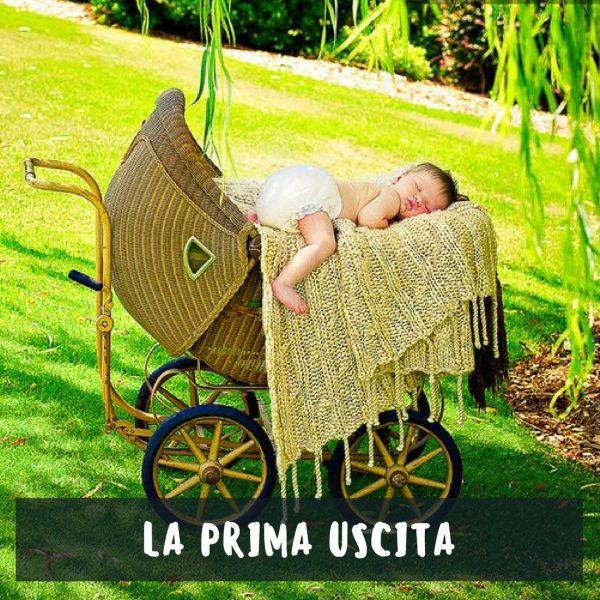 la prima uscita con il neonato