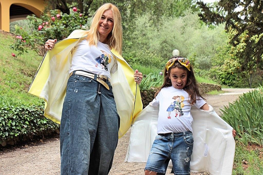 scarpe mamma e figlia e look coordinati