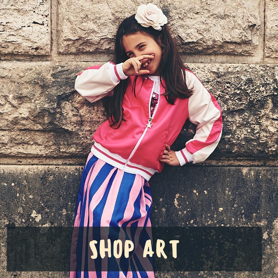 shop art online e la moda bambina