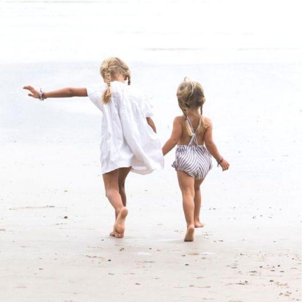 costumi mare per i bambini e tessuti naturali