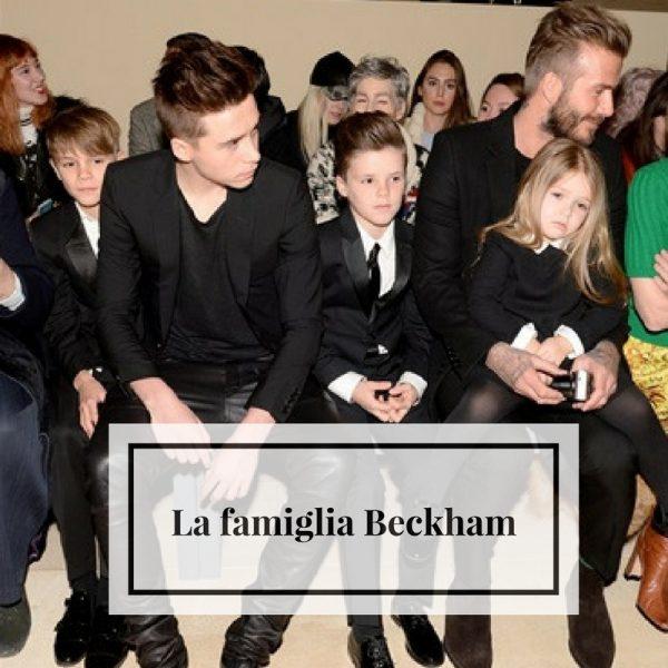 la famiglia Beckham instagram
