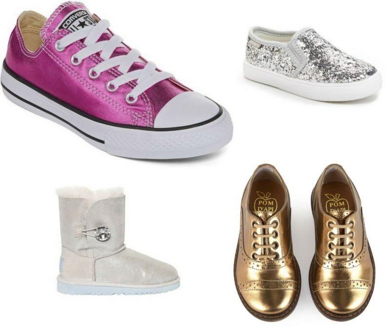 Le scarpe per il rientro a scuola bambina