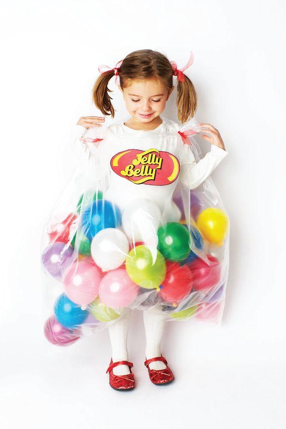Costume di Halloween bambini fai da te caramelle
