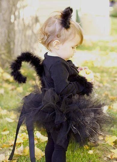 Maschere di Halloween bambini fai da te gatto