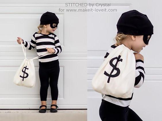 Maschere di Halloween bambini fai da te ladro