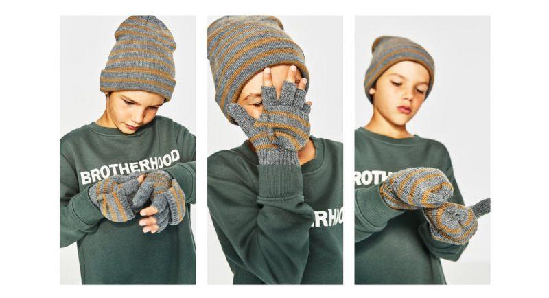 Zara propone per bambino e bambina un po  più grandicelli un tipo  particolare di guanti. Si tratta di mezzi guanti (senza la punta delle  quattro dita) ... 1bd65ade8184