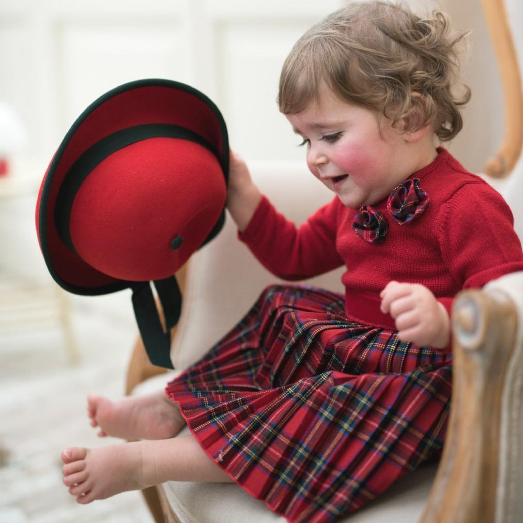 Abiti bambina per Natale con CAF e il suo mondo alla moda 02ff532d564