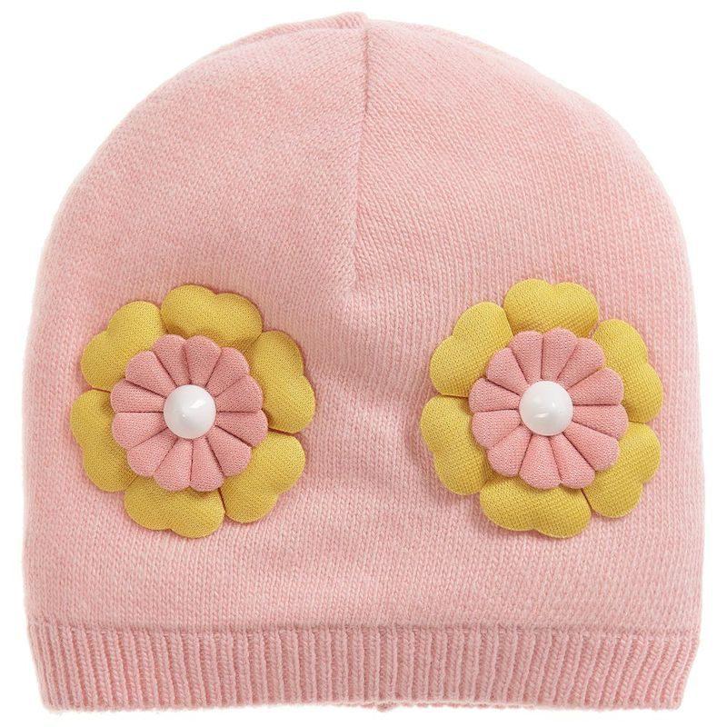 cappelli per bambini fiore rosa