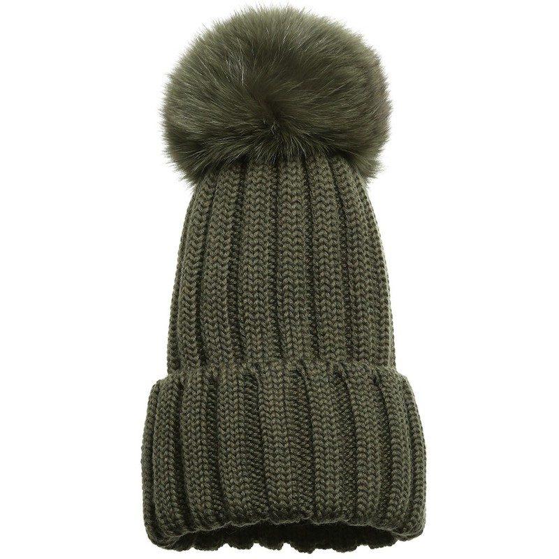 cappelli per bambini inverno 2018 pelliccia verde