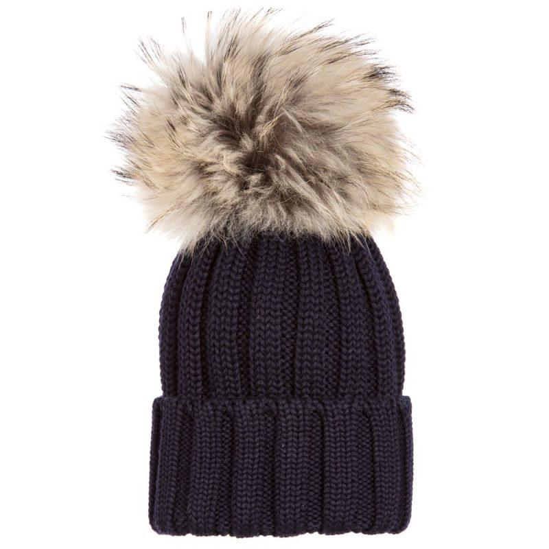 cappelli per bambini inverno 2018 nero e pelliccia