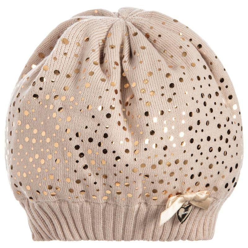 cappelli per bambini pois oro
