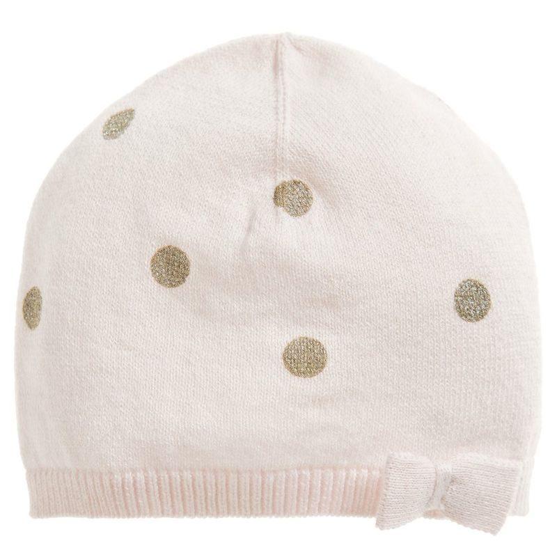 cappelli per bambini pois dorato