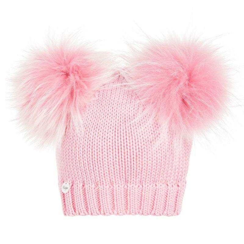 cappelli per bambini inverno 2018 doppio pompon