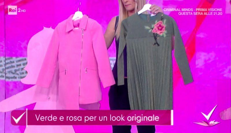 rosa e verde e colori moda bambini