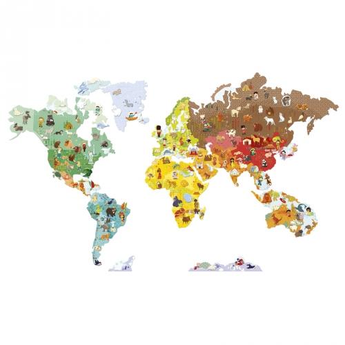 Mappa murale con stickers magnetici
