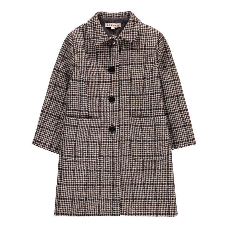 Cappotto lana shetland Caramel in saldo