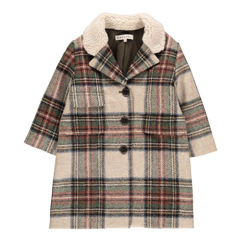 Cappotto scozzese Caramel in saldo