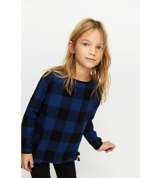Maglietta a quadri con fiocchi saldi Zara