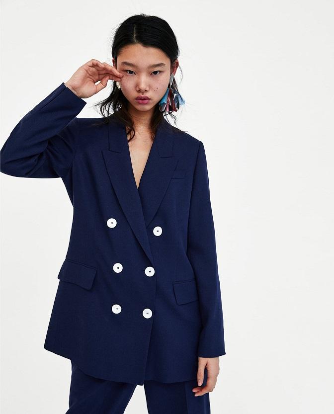 Zara tailleur blu mamma